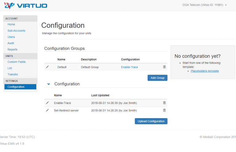 Virtuo-Configurations